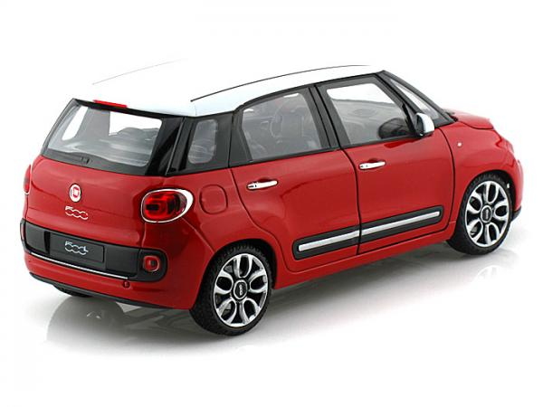WELLY FIAT 500L 2013 RED 1/24