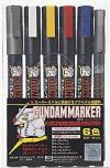 GUNDAMMARKER BASIC 6 COLOUR SET