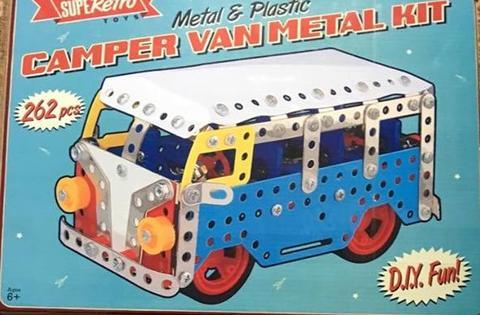 SUPER RETRO CAMPER VAN METAL KIT