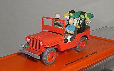 WILLYS MB \'43 TINTIN JEEP RED 1/43