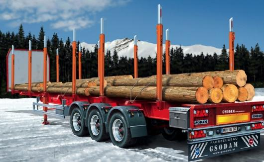 Italeri Timber Log Trailer Trucks And Trailers 1 24